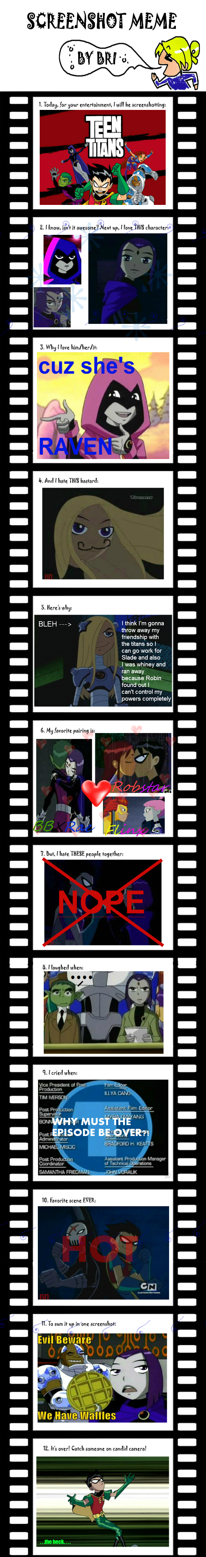 Teen Titans Screenshot meme :D by SierraFaith
