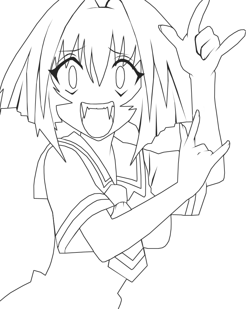 kamichama karin coloring pages - photo#10