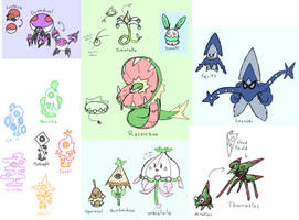 Old Fakemon Redesigns Batch 1