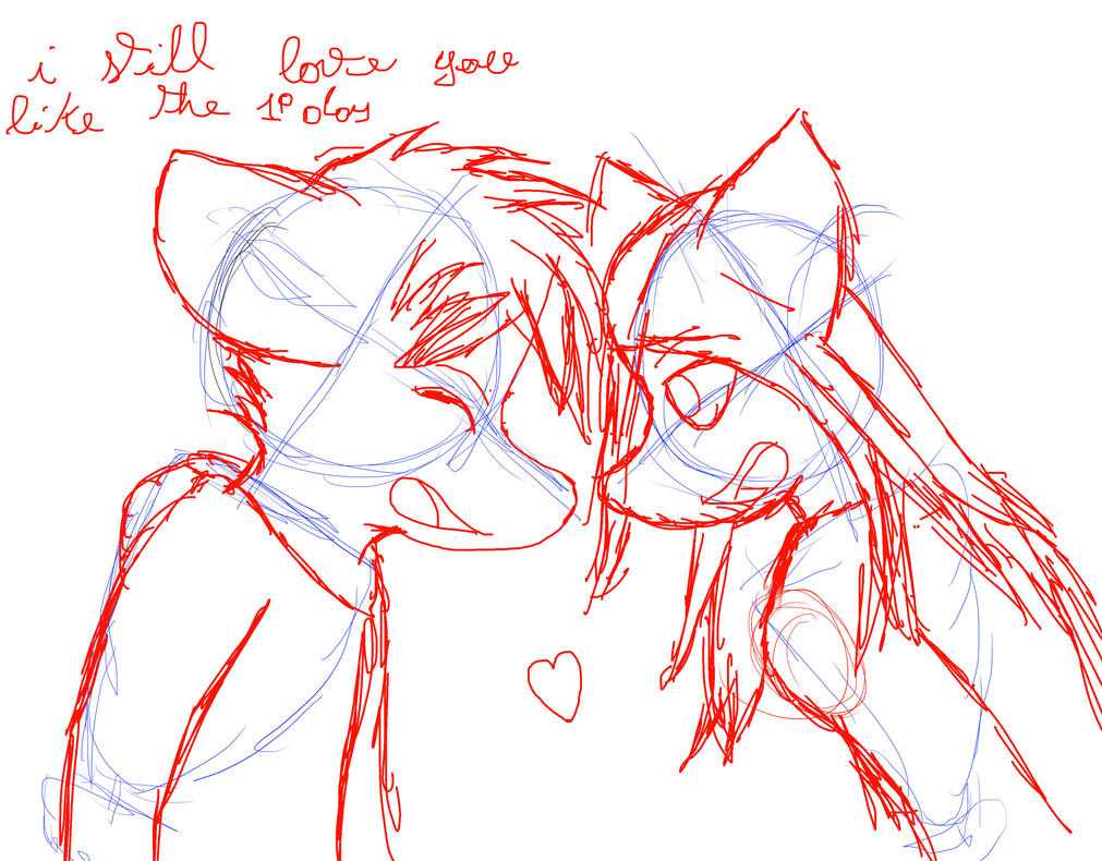 I still love you like the first day - sketchy art by Urbanracer96
