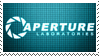 Aperture Science Stamp by morowhitewolf