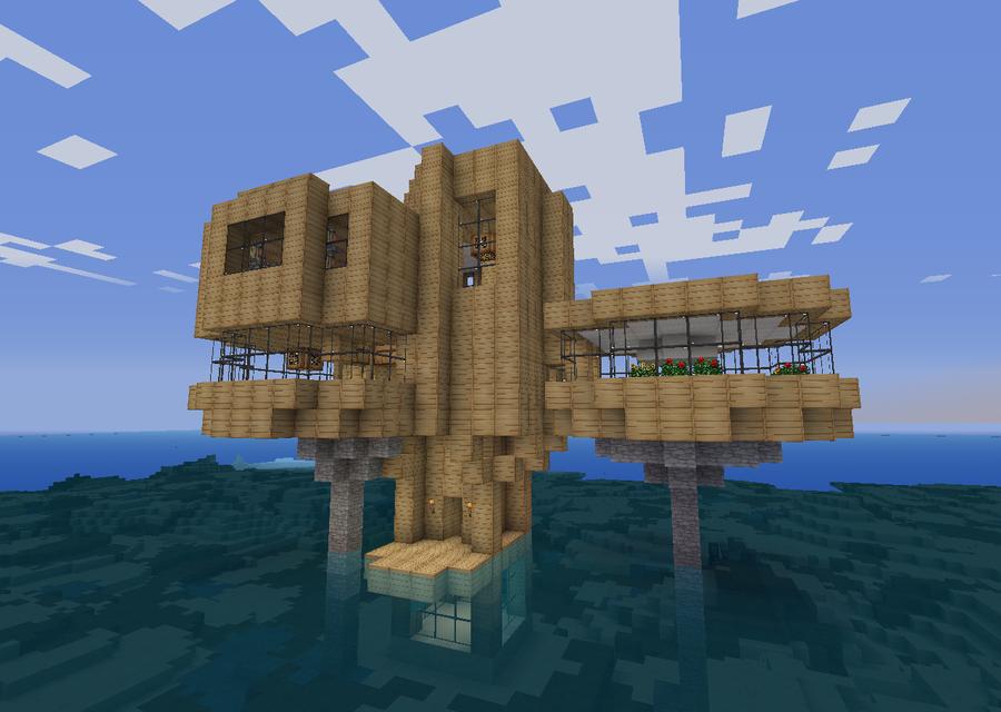 Minecraft Ocean home by MrMorrill on DeviantArt