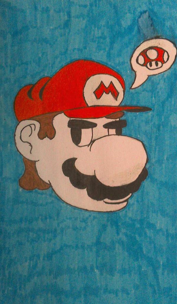 Mario needsa' mushroom (colored) by Alexinator5000