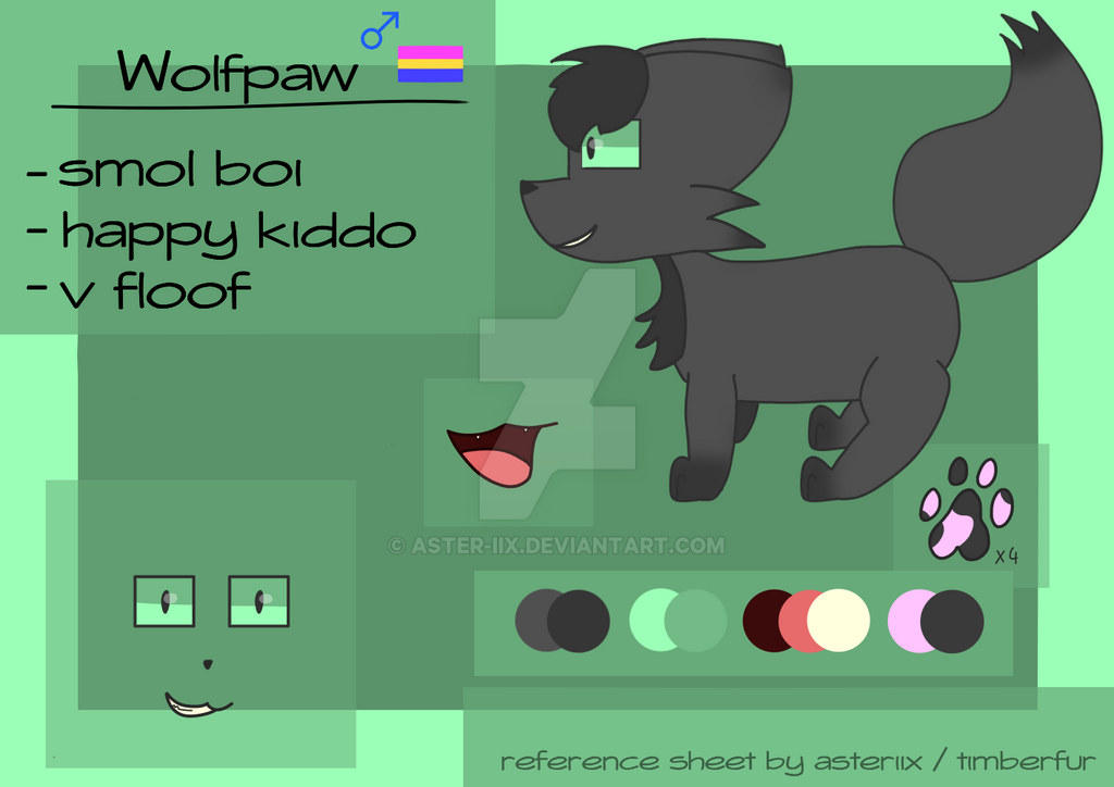wolfpaw reference sheet by aster-iix