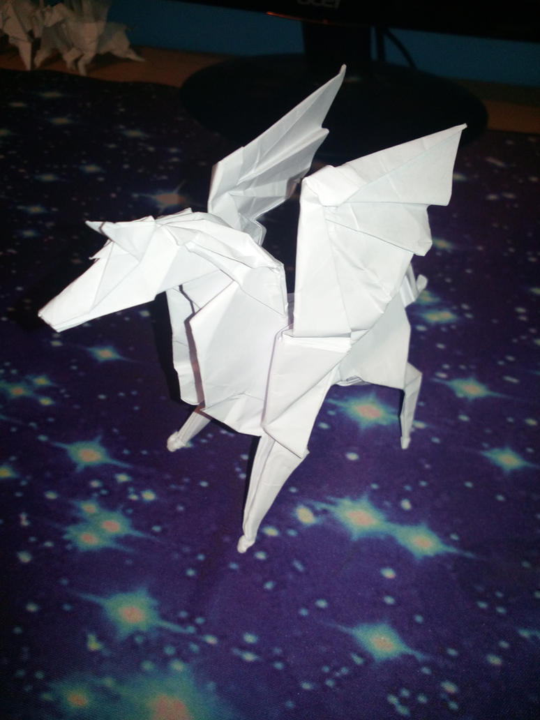 Origami Pegasus By Jandalf Origami On Deviantart