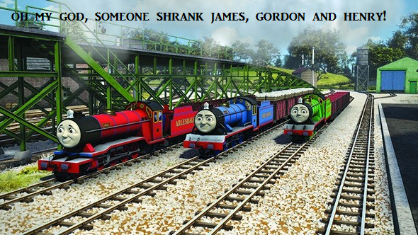 OH MY GOD! SOMEONE SHRANK JAMES GORDON AND HENRY! by GBHtrain