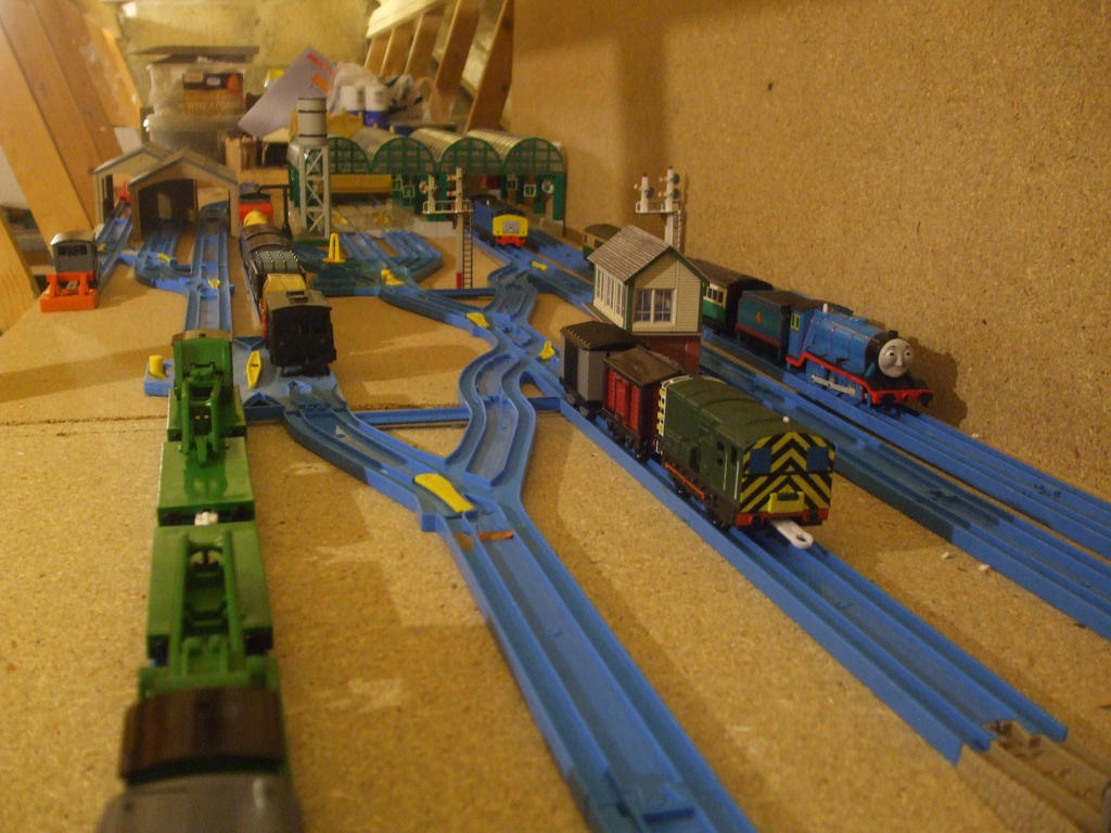 Knapford Station Tomy Layout By Gbhtrain On Deviantart