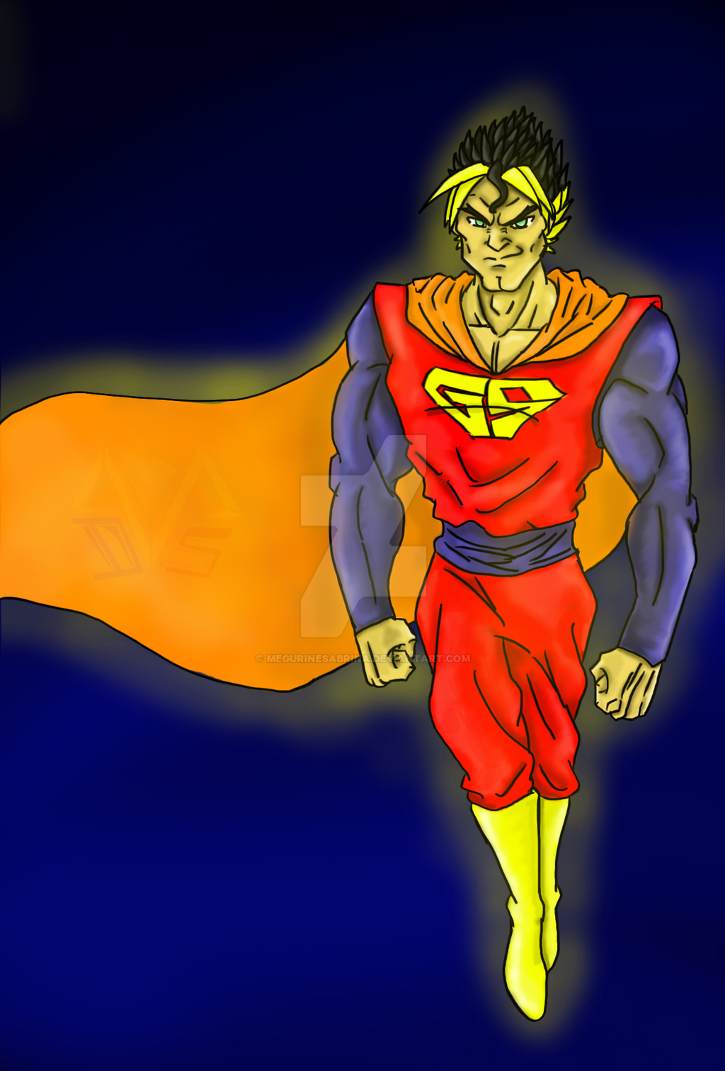 Goku and Superman Fusion by MegurineSabrina on DeviantArt