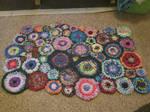Flowerpath Crochet rug