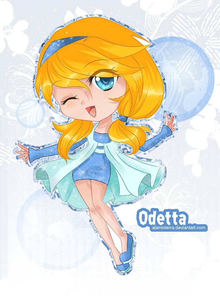 Odetta chibi Magic by alamisterra