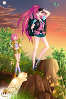 Cover of Winx Club Forum Magazine June by alamisterra