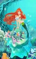 Bloom Mermaid by alamisterra
