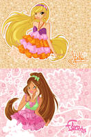 JM drawings: Flora and Stella by alamisterra