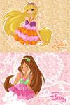 JM drawings: Flora and Stella