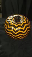 Chevron pumpkin Hand painted!