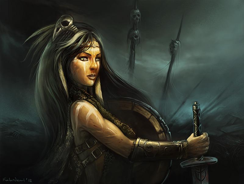 warrior girl by KalaNemi