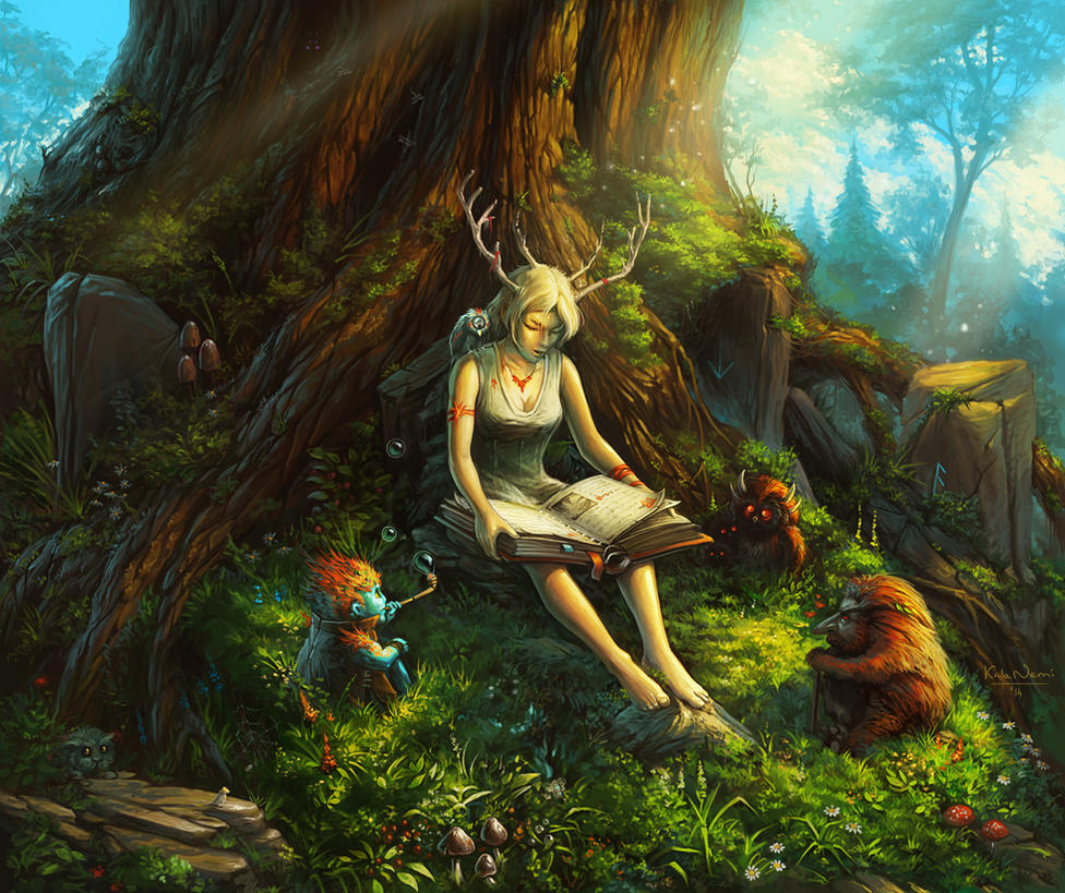 Fairy Tales For Forest Spirits By Kalanemi On Deviantart