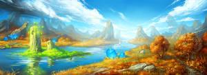 island of summer by KalaNemi