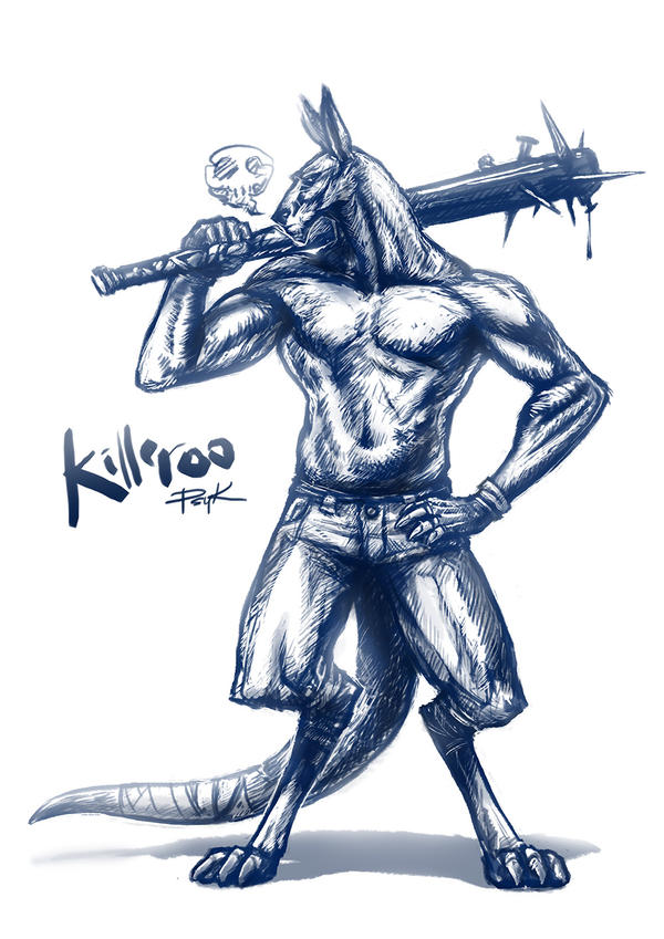 OZComics Weekly Challenge - Killeroo by PsychedelicMind