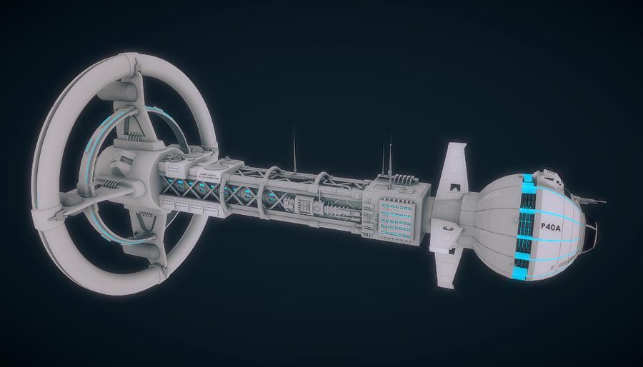 3D Spaceship made in Blender