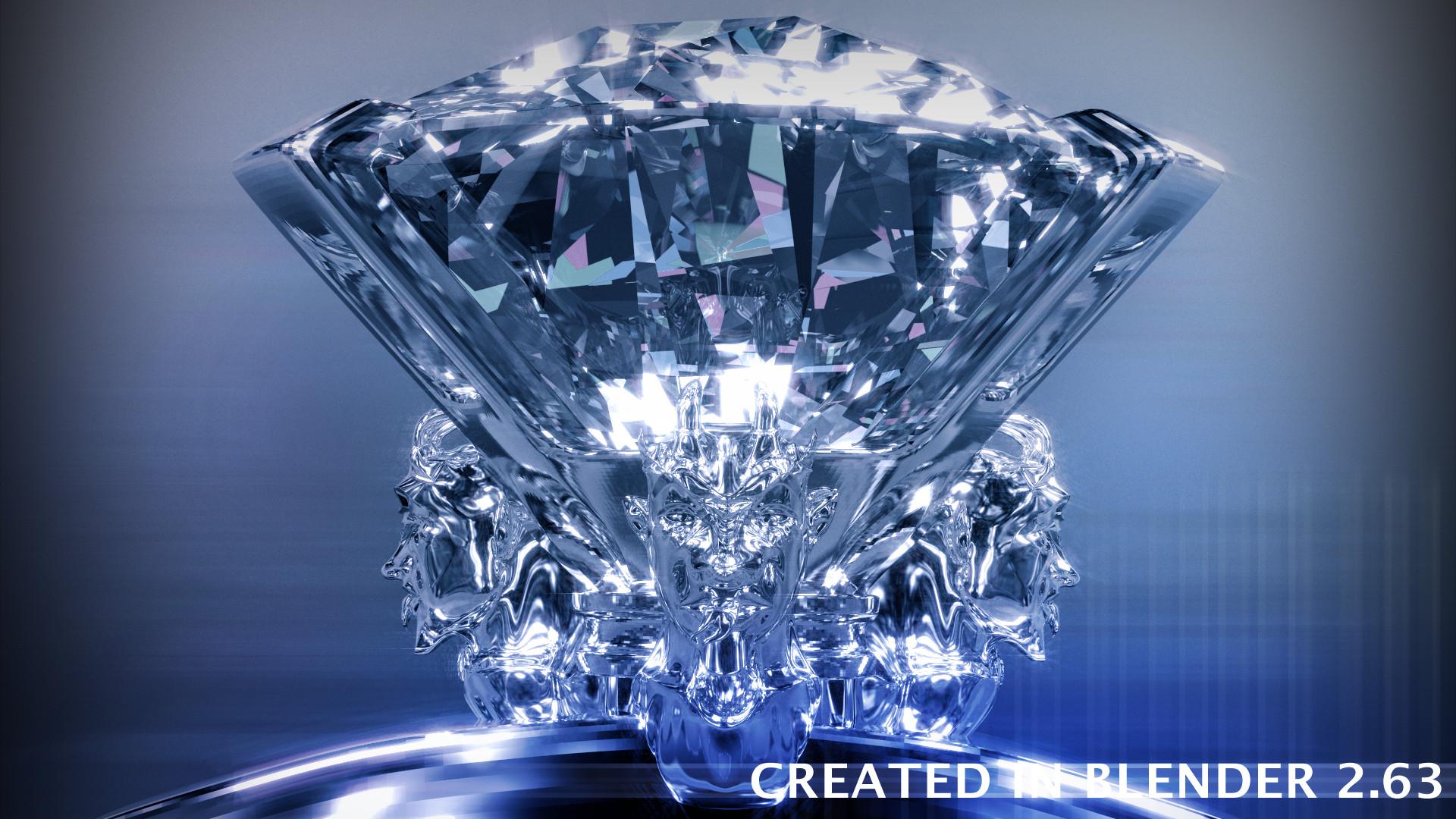 3D Diamond Scene Blender Cycles By Derpas