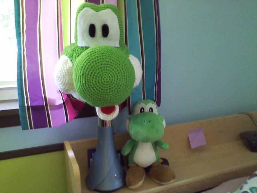 Yoshi Hat WIP by Psychodelicon