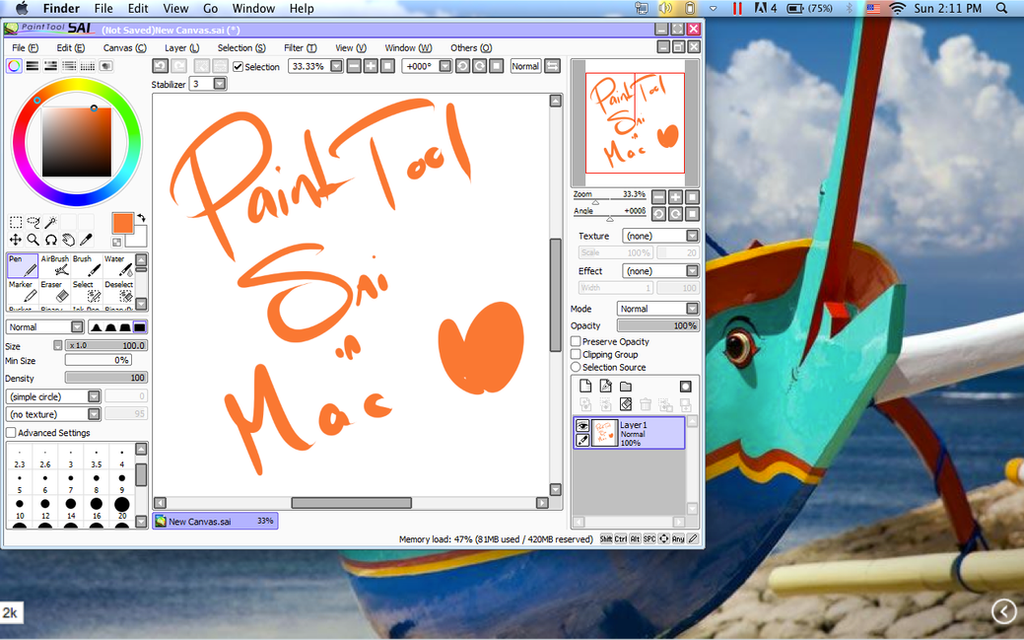 paint tool sai in mac by osukakun on deviantart