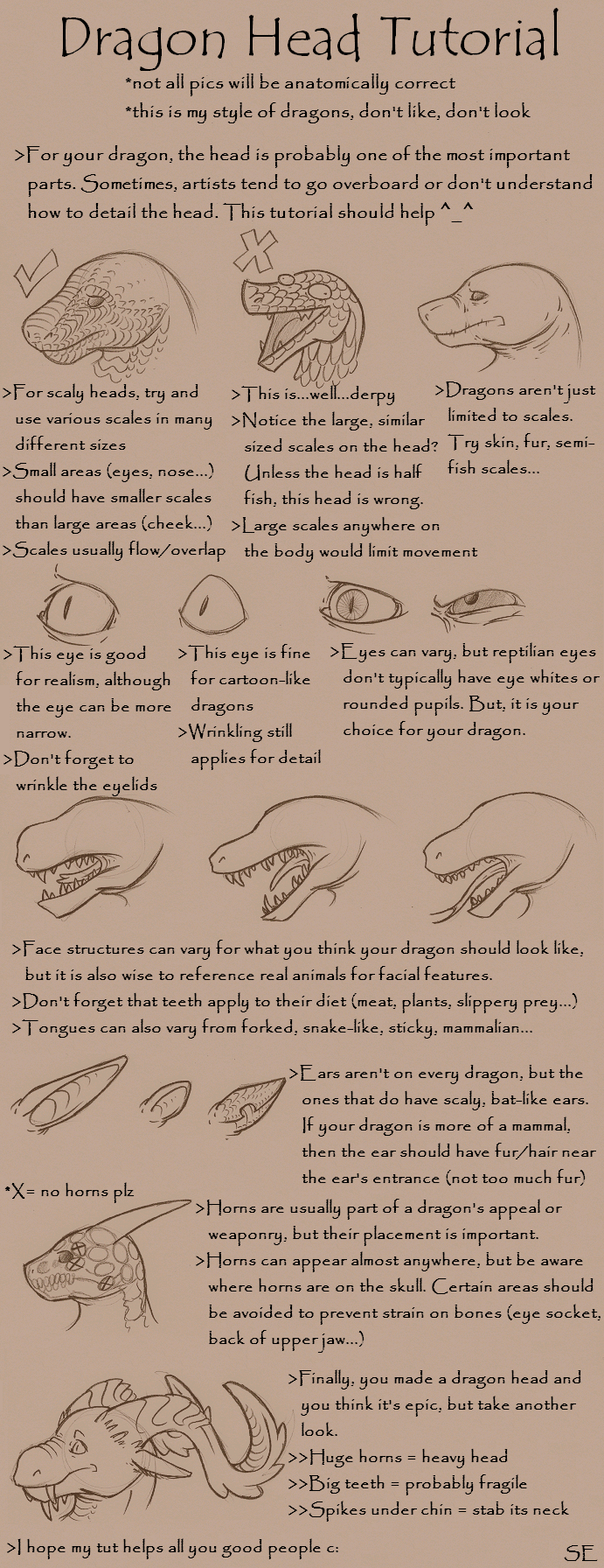 Dragon Head Tutorial by Scar-eye