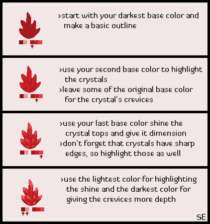 Pixel Crystal Tutorial by Scar-eye