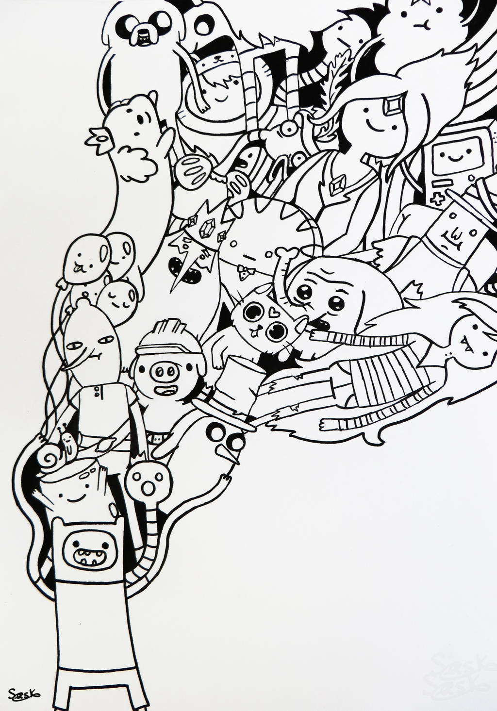 Adventure time doodle by zilverlovely on deviantart for Doodle characters