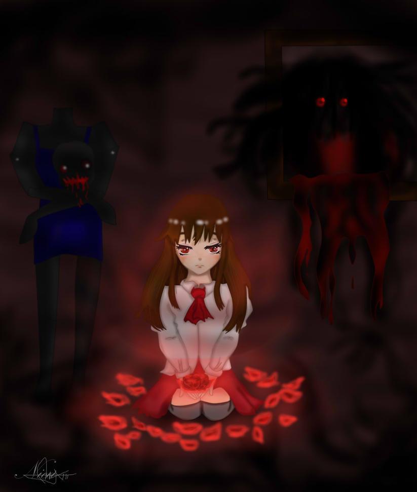 IB Luminous Red Rose by kur0nek013