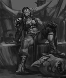 Master Study: Bayard Wu's 'Ms Orc' by SpazzCreations