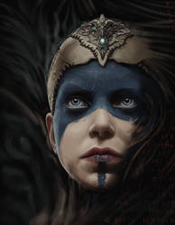 Study of Senua, from Hellblade. by SpazzCreations