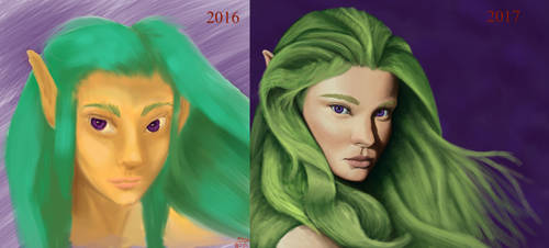 One year of Learning. Before and After. by SpazzCreations