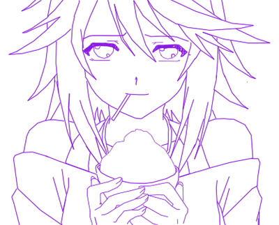 Purple Mizore s Lineart by violeta-chan-cross