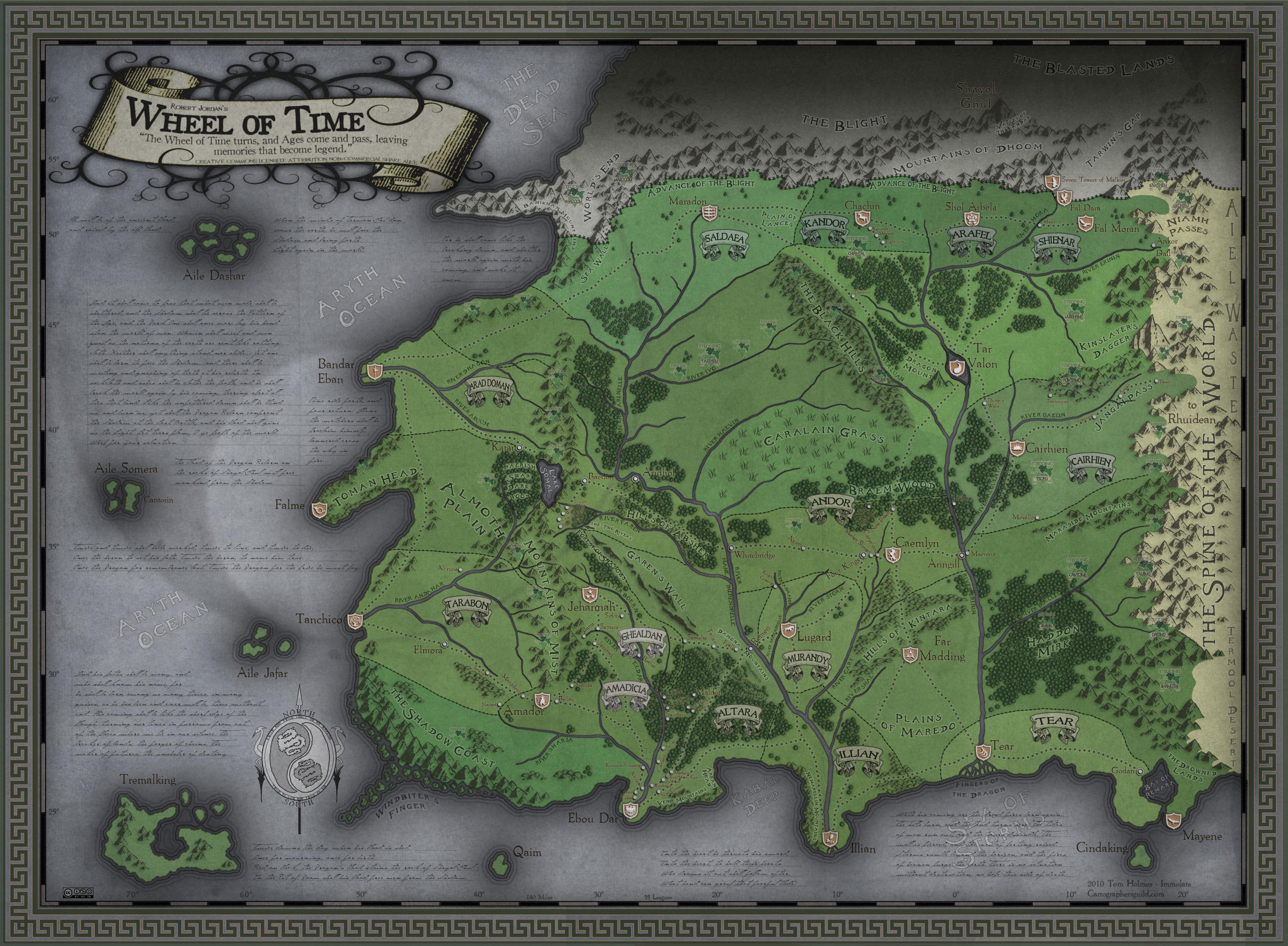 Mapa das Westernlands (fanmade) Wheel_of_Time___Western_Lands_by_SevenBridges