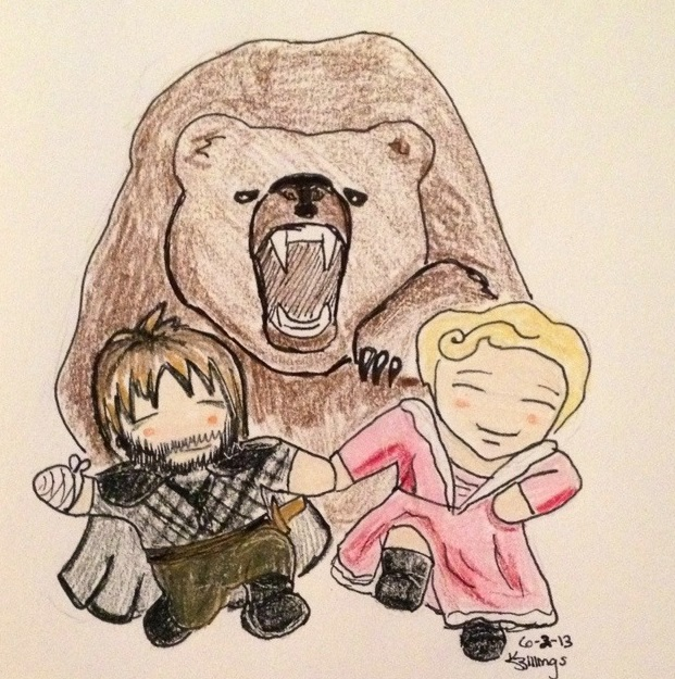 Jaime and Brienne BFFS by BunnyKungFuFu