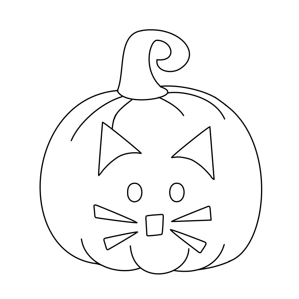 pumpkin cat jack o lantern digistamp by janettebernard on deviantart