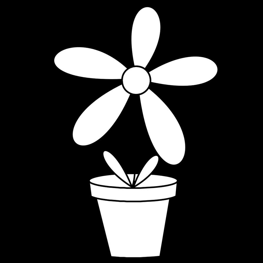 Line Art Flower Pot : Flower pot digistamp by janettebernard on deviantart