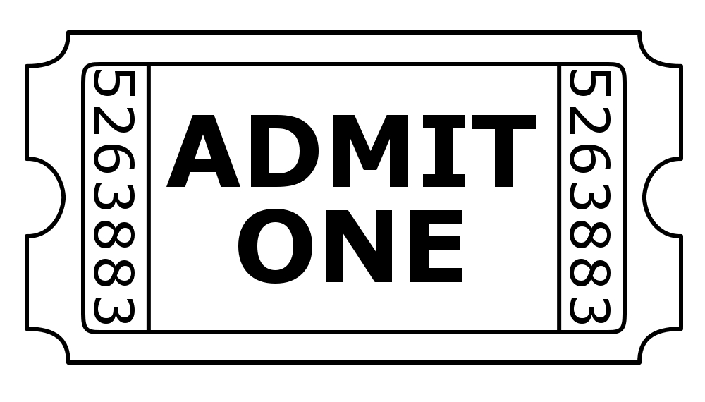 Admit One Ticket Digital Stamp By Janettebernard On Deviantart