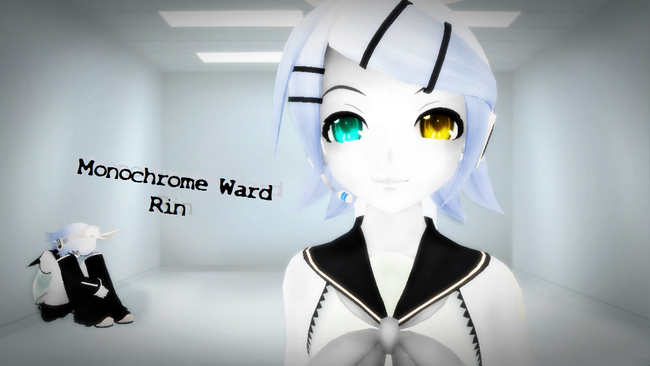 [MMD] Monochrome Ward Rin by MewMewKittyMewMew