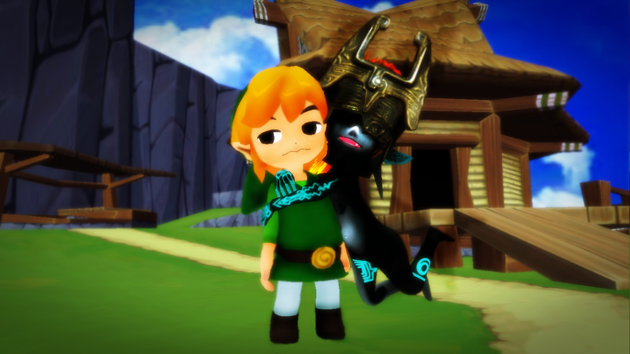 [MMD] Midna Meets Toon Link! by Snorlaxin