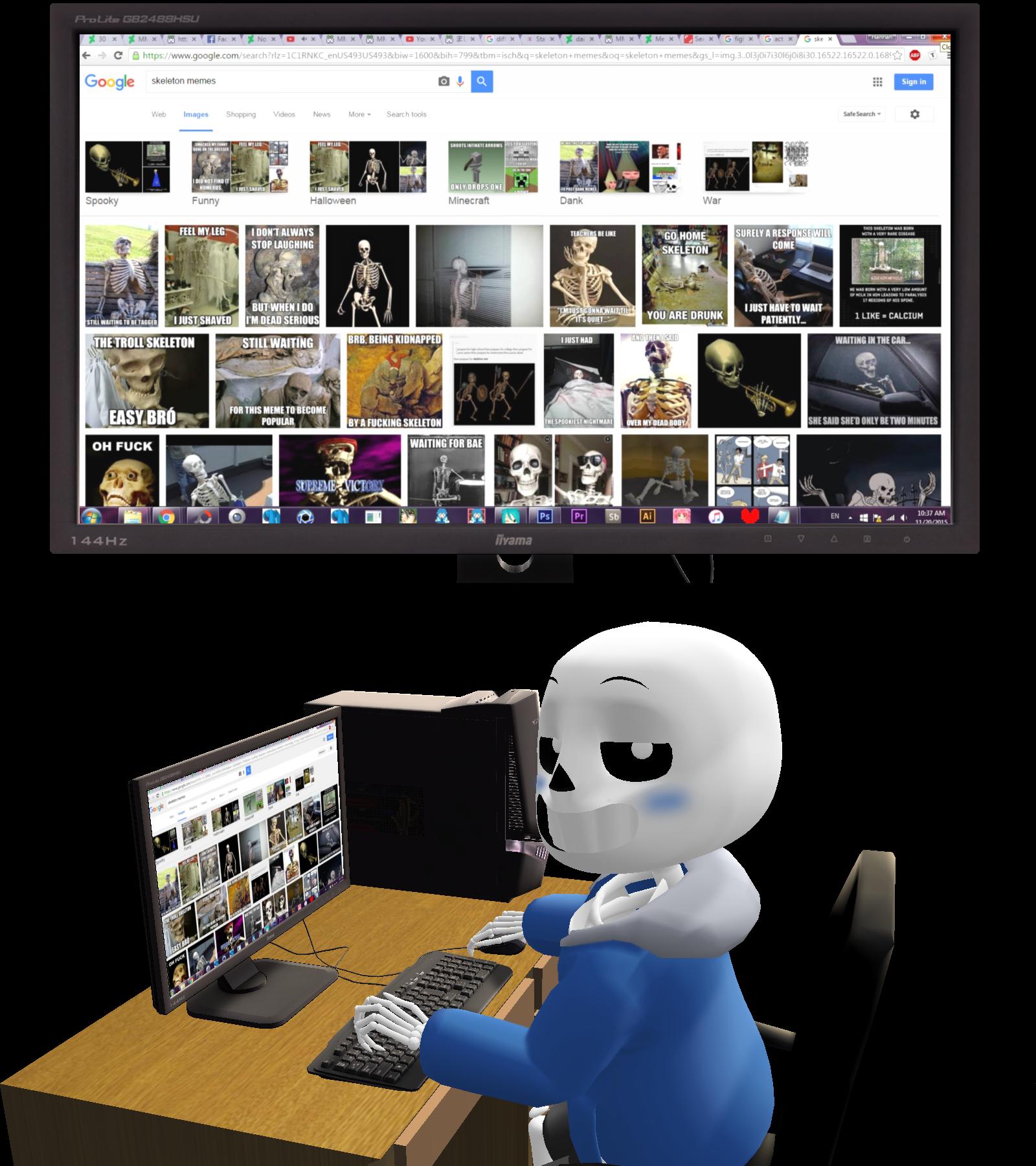 Mmd Skeleton Memes By Snorlaxin On Deviantart