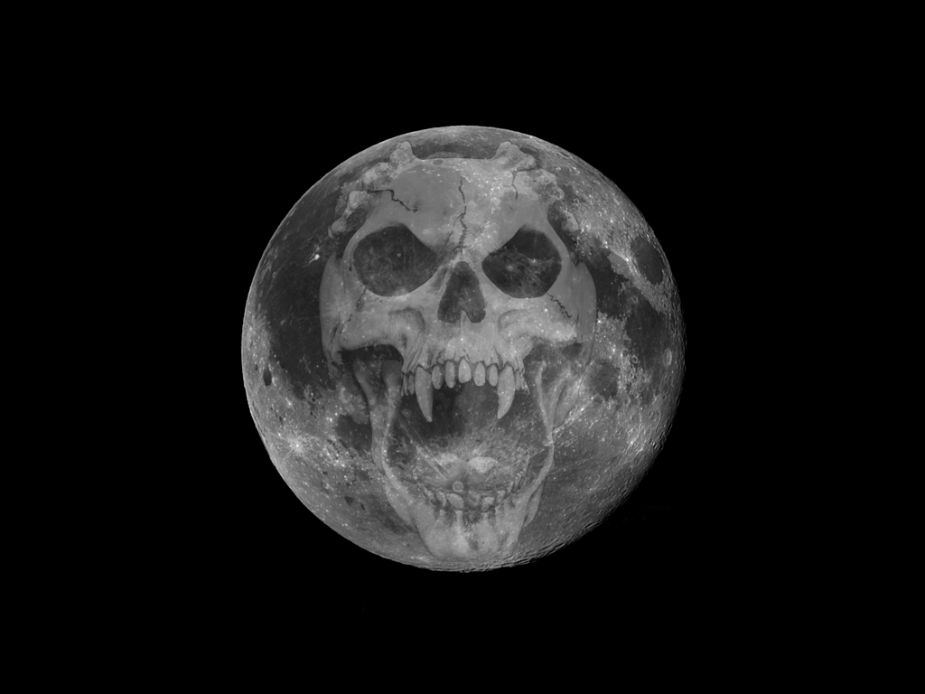 Halloween Moon Skull by cycoze on DeviantArt