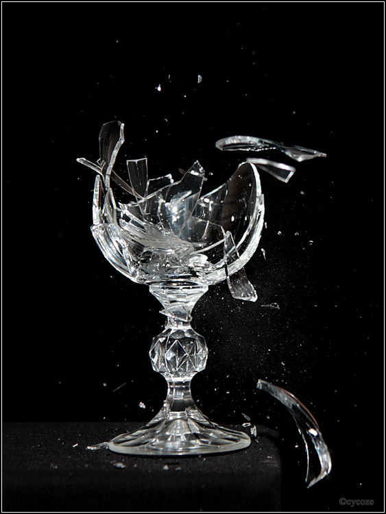 Items similar to Broken Glass Painting, oil painting ...   Broken Wine Glass Painting