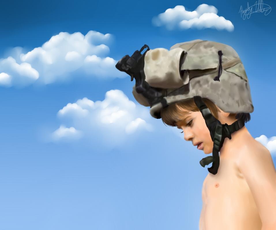 Little boy, be a man by Dai-Wolf