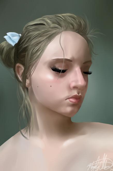 Self Portrait by Dai-Wolf
