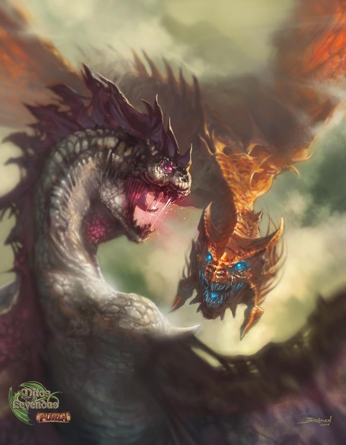 Lucha de Dragones by Brolken