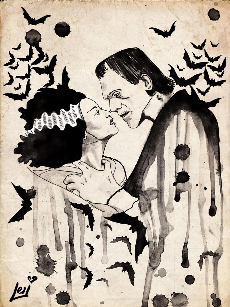 Frankenstein And Bride By Lesiart On Deviantart