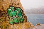 Graffiti Looking Out To Sea